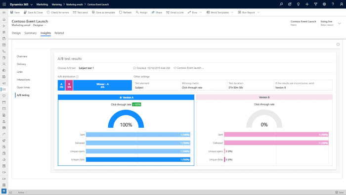 A/B Testing with Dynamics 365 Marketing by DIS