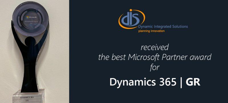 Best Dynamics 365 Partner Award